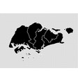 singapore map - high detailed black map with vector image vector image