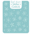 snowflakes icons frozen frost star vector image vector image