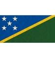 Solomon islands paper flag vector image vector image