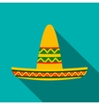 Sombrero icon flat style vector image vector image