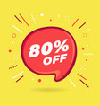 special offer sale red bubble 80 percent discount vector image vector image