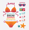 summer infographic geometric concept design colour vector image vector image