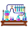 the sequence chemical color reactions stages vector image