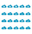 thin line cloud computing icon set vector image