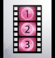 vector icons of film vector image vector image