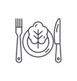 vegetarian menu line icon concept vegetarian menu vector image