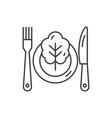 vegetarian menu line icon concept vegetarian menu vector image vector image