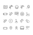 video games gadget icons vector image