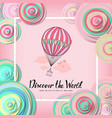 vintage motivational postcard with balloon vector image