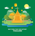 wat phra that doi suthep amazing temple in vector image