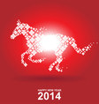 year horse chinese new year vector image vector image