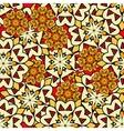 Yellow mandalas seamless background Endless vector image vector image