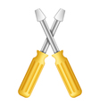 yellow screwdrivers vector image