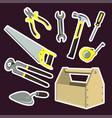 is a set of cartoon tools vector image