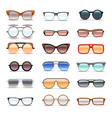summer sunglasses fashion eyeglasses flat vector image
