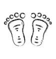 figure beauty baby footprint design icon vector image