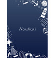 abstract doodle nautical frame design vector image