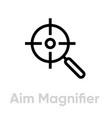 aim magnifier targets icon editable line