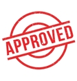 Approved rubber stamp vector image vector image