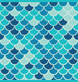 aqua fish scale seamless pattern background vector image