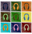 assembly flat shading style icons headphones vector image