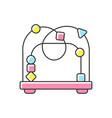 bead maze toy rgb color icon vector image
