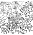 Bird in flower garden vector image vector image
