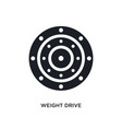 black weight drive isolated icon simple element vector image vector image