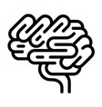 brain organ icon outline style vector image vector image