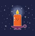 cartoon candle vector image