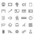 classroom line icons on white background vector image