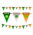 colorful festive flags with clovers vector image vector image