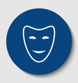 comedy theatrical masks white contour vector image vector image