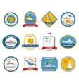 Cruise travel agency tours labels colored vector image vector image