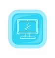 Desktop Computer Icon Button Isolated on White vector image vector image