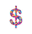 dollars sign usd currency symbol vector image
