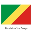 Flag of the country republic congo vector image vector image
