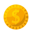 gold coin in cartoon style vector image vector image