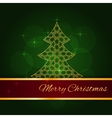 Green christmas card vector image vector image