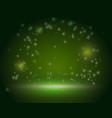 green ireland magic forest scene backdrop blank vector image vector image