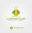 green lab logo design template vector image