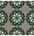 Green mandalas seamless wallpaper Indian vector image vector image