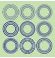 guilloche rosettes vector image vector image