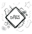 hand draw cartoons vector image vector image