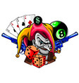 hand drawn angry clown vector image