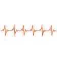 heart beat ekg cardiogram line pulse icon vector image