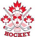 hockey label in pop art style vector image