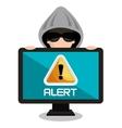 internet security information icon vector image vector image