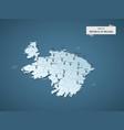 isometric 3d republic ireland map concept vector image vector image