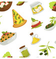 italian pizza slices traditional meal dish of vector image vector image